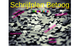 Schrijfplan Betoog Voorbeelduitwerkingen