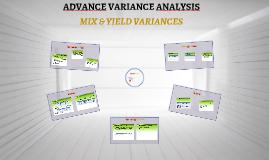 ADVANCE VARIANCE ANALYSIS