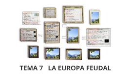 TEMA 7   LA EUROPA FEUDAL