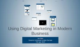 Using Digital Marketing in Modern Business
