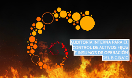 AUDITORÍA INTERNA PARA EL CONTROL DE ACTIVOS FIJOS E INSUMOS