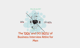 Copy of Copy of The 'DOs' and DO NOTs' of Business Interview Attire