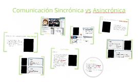 Comunicación Sincrónica vs Asincrónica
