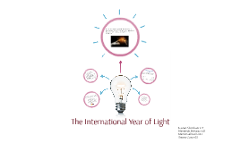 The International Year of Light