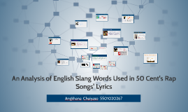 An Analysis of English Slang Words Used in 50 Cent's Rap Son