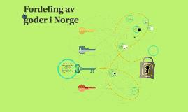 Fordeling av goder i Norge