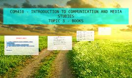 TOPIC 3 - BOOKS