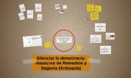 ntre 1982 y 1997 en los municipios de Remedios y Segovia, No