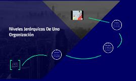 Copy of Niveles Jerarquicos De Una Organización