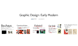 Graphic Design: Early Modern