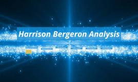 Harrison bergeron literary analysis theme