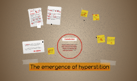 The emergence of hyperstition