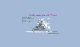 Copy of Plataformas de Aprendizaje E-learning