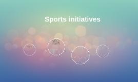 Sports initiatives