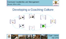 Developing a Coaching Culture