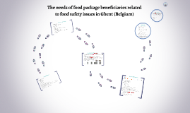 The needs of food package beneficiaries related to food safe
