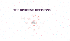 THE DIVIDEND DECISIONS