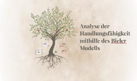 Analyse der Handlungsfähigkeit mithilfe des Bieler Modells