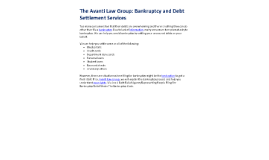 The Avanti Law Group: Bankruptcy and Debt Settlement Services