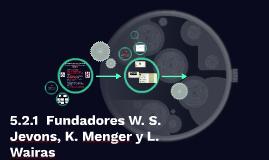5.2.1  Fundadores W. S. Jevons, K. Menger y L. Wairas