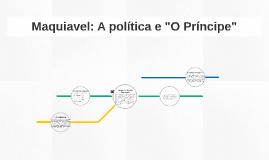 """Maquiavel: A política e """"O Príncipe"""""""