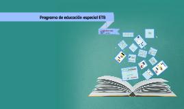 Programa de educación especial ETB