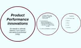 Product Performance innovations