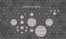 Club Orientation 2016-2017