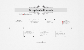 Decetion in Research