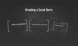 an experiment in breaking an accepted social norm Accepted: 01 march 2016 close  dilemma: a quasi-experiment on social norm enforcement  entitled to reprimand someone breaking the silence norm.