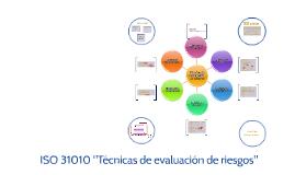 ISO 31010 Técnicas de evaluación de riesgos