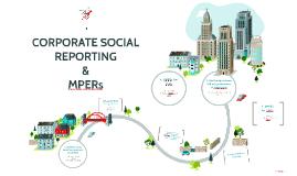 CORPORATE SOCIAL REPORTING