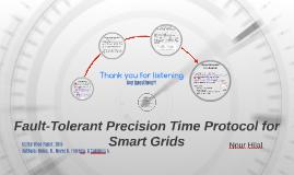 Fault-Tolerant Precision Time Protocol for Smart Grids