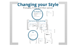 Changing your style