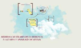 Copy of MEDIDAS CAUTELARES DE LA HERENCIA