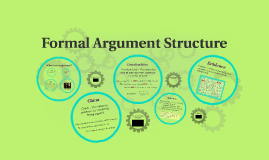 Copy of Formal Argument Structure