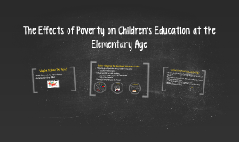 The Effects of Poverty on Children's Education at the Elemen