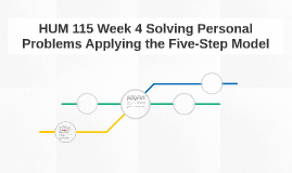 HUM 115 Week 4 Solving Personal Problems Applying the Five-S