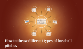 How to throw different types of baseball pitches