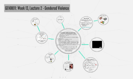 GEND011: Week 13, Lecture 2 - Gendered Violence