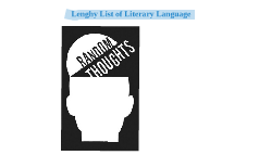 Lenghy List of Literary Language