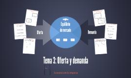 Tema 3: Oferta y demanda
