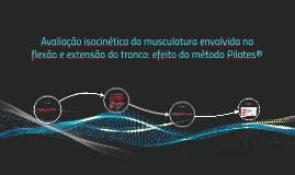 Avaliação isocinética da musculatura envolvida na