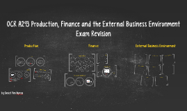 OCR A293 Production, Finance and the External Business Environment Exam Revision