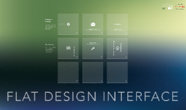 Flat design interface template