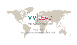 Apply for the 2014 Class of the VVLead Fellowship Program