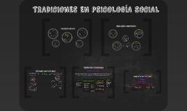 Copy of Tradiciones en Psicología Social