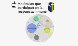 Moléculas que participan en la respuesta inmune