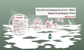 Currículo nacional: BNCC