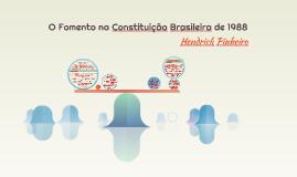 O Fomento na Constituição Brasileira de 1988